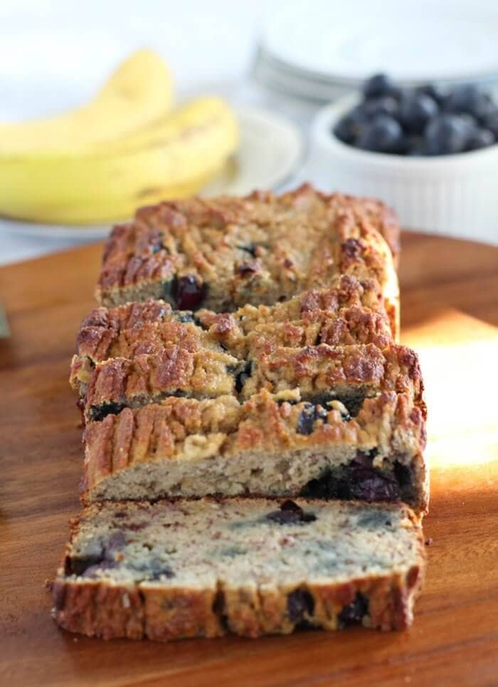 Banana Blueberry Breakfast Bread (Paleo & Nut Free)