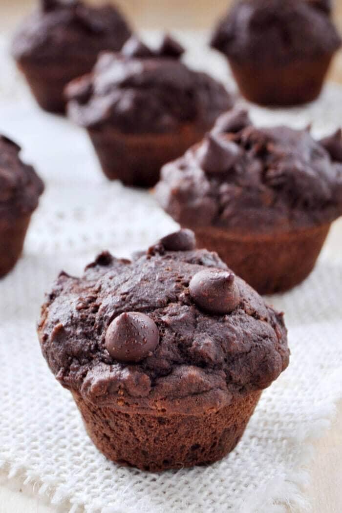 Vegan Gluten-free Double Chocolate Muffins