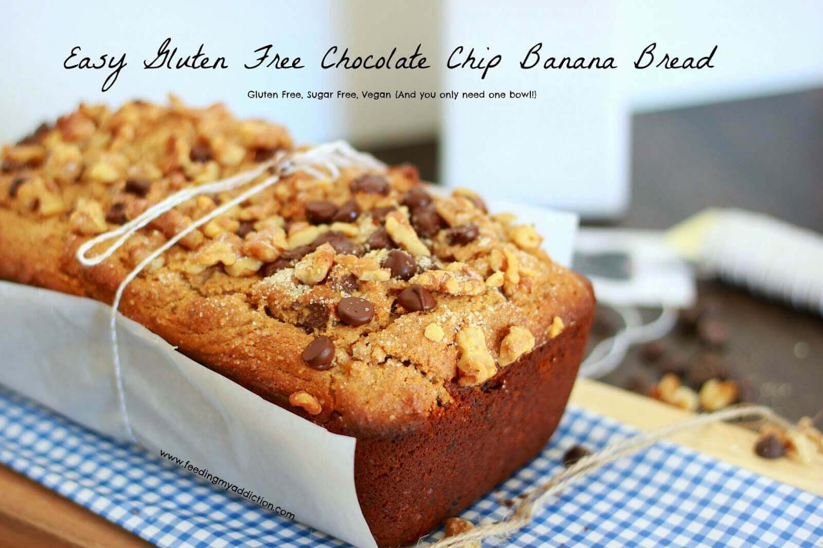 Easy Gluten Free Chocolate Chip Banana Bread