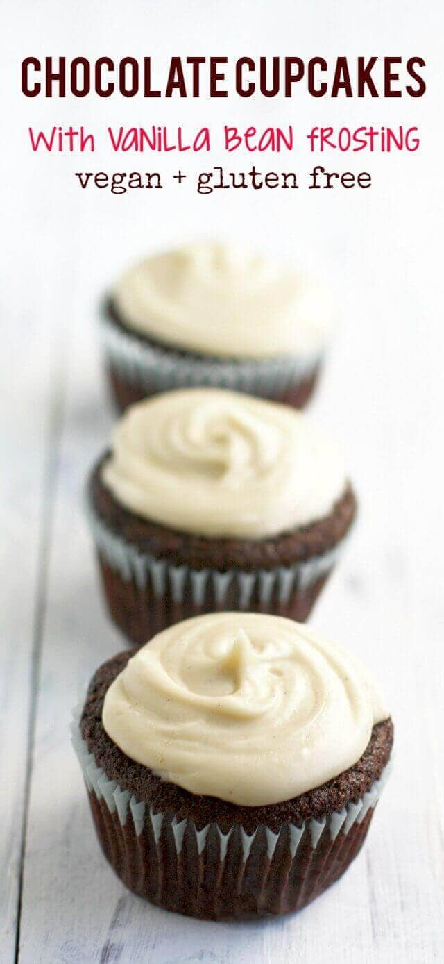 Chocolate Cupcakes with Vanilla Bean Frosting