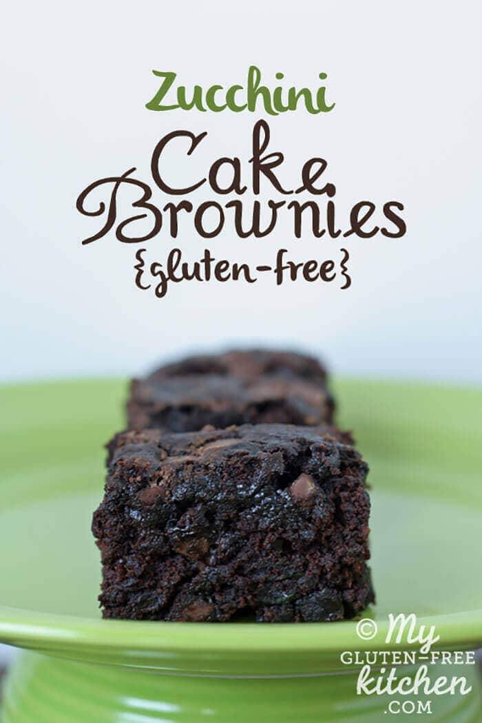 Double Chocolate Zucchini Cake Brownies
