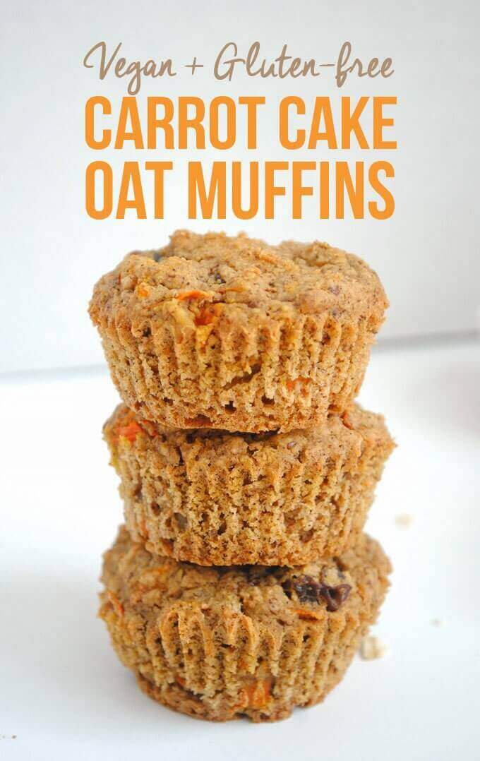 Carrot Cake Oat Muffins (Vegan and Gluten-Free)