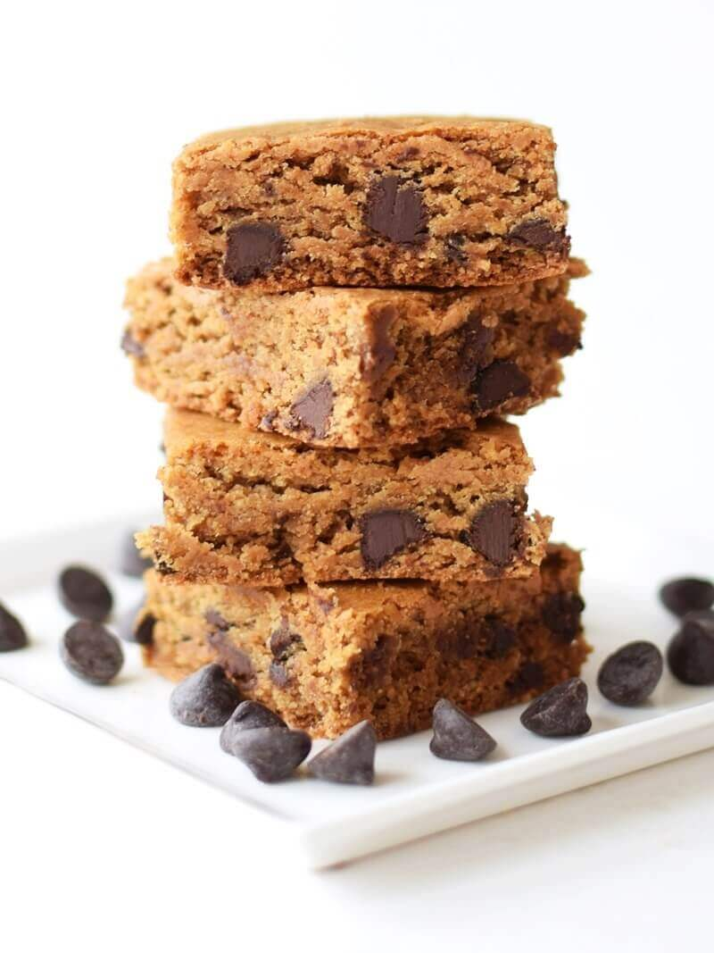 Wholesome Chocolate Chip Cookie Bars
