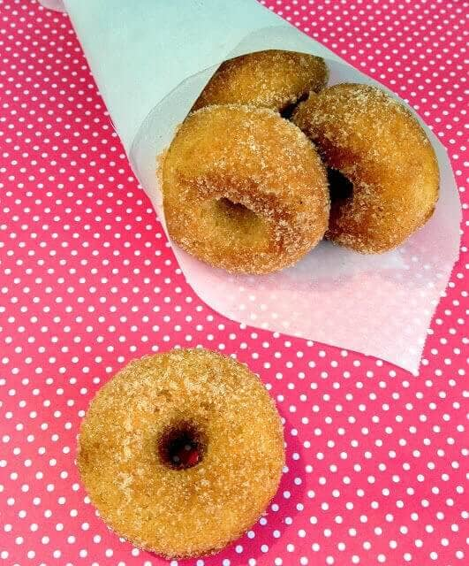 Snickerdoodle Doughnut Gems (Gluten-free, Baked Mini Doughnuts)