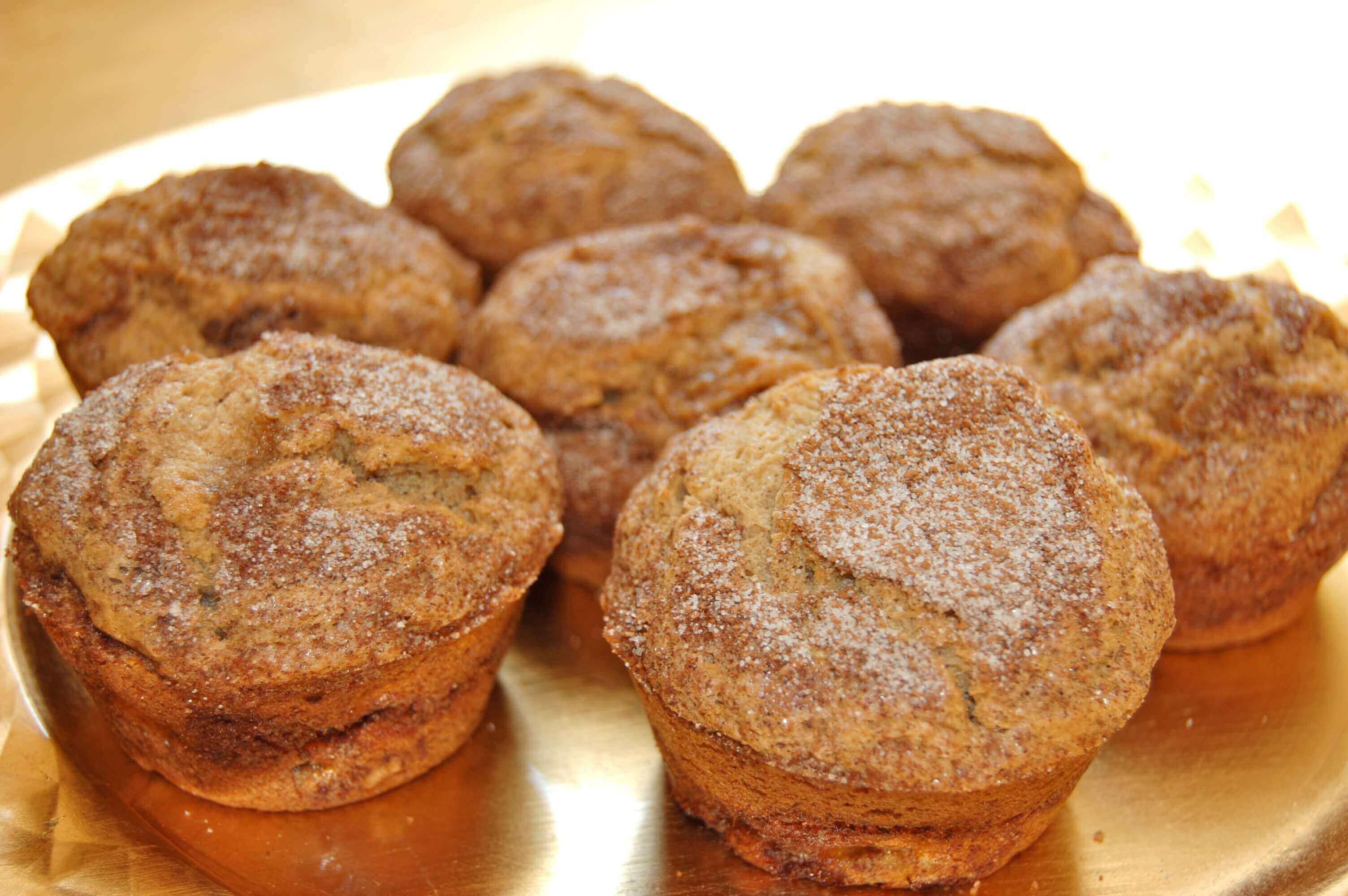 Gluten-free Cinnamon Swirl Banana Muffins