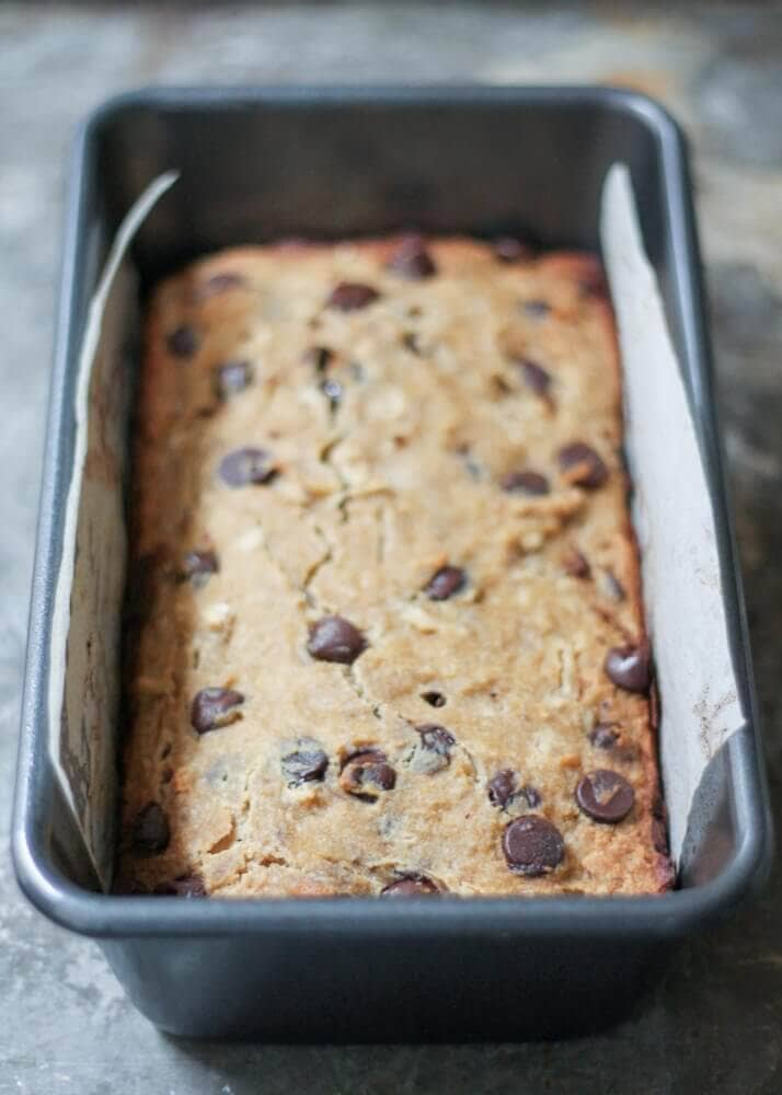 Chocolate Chip Coconut Flour Banana Bread (Gluten-Free, Paleo)