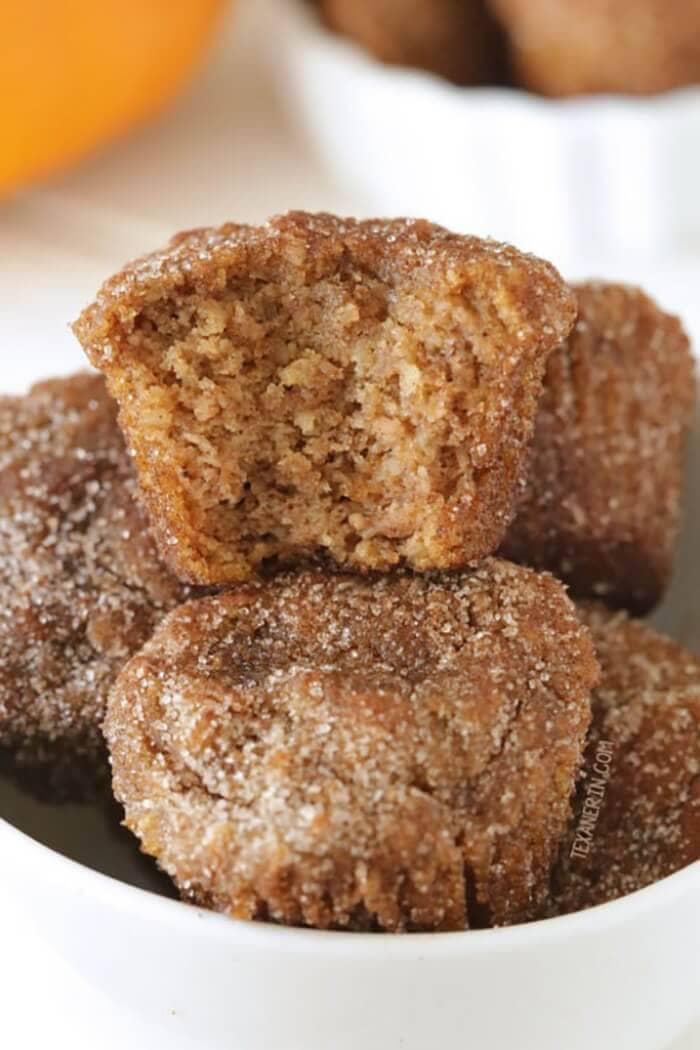 Paleo Cinnamon Sugar Pumpkin Donut
