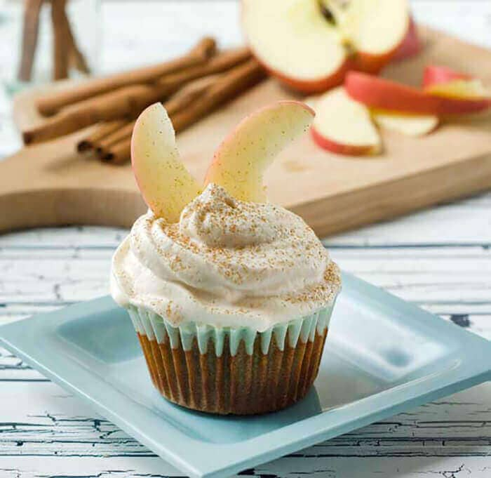 Gluten-Free Cinnamon Apple Cupcakes