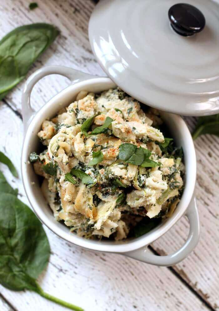 Vegan Spinach and Artichoke Pasta