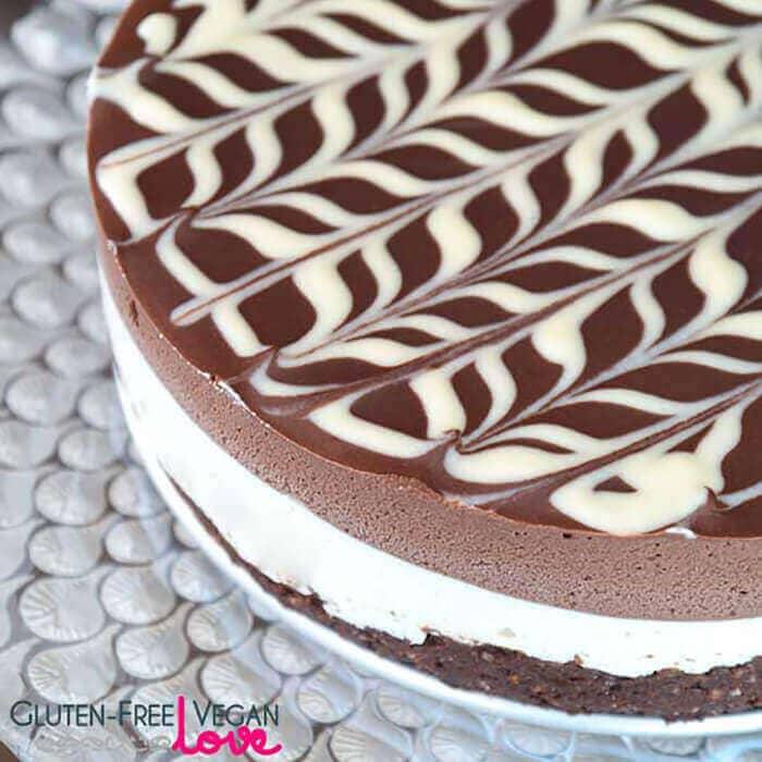 Raw Vegan And Gluten-Free Black And White Chocolate Cake