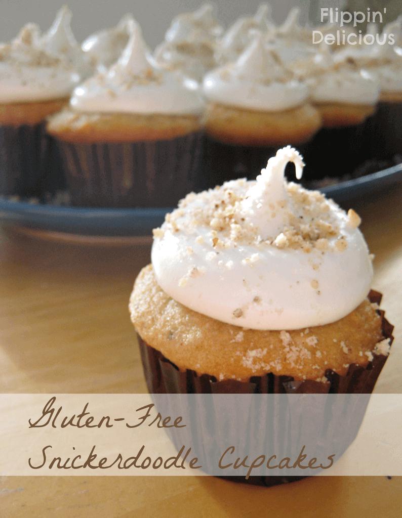 Gluten-Free Hazelnut Snickerdoodle Cupcakes