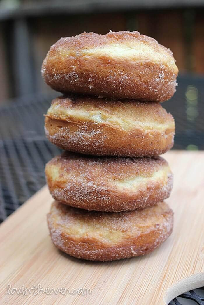 Baked Maple Donuts with Cinnamon Sugar