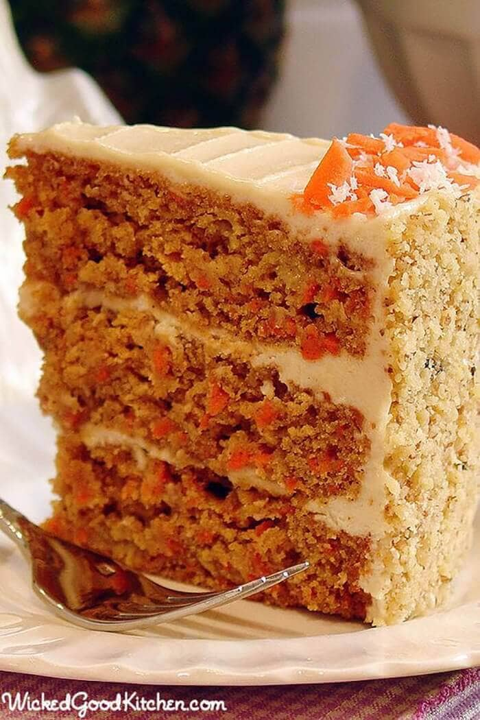 Paleo Carrot Cake with Cashew Coconut Buttercream