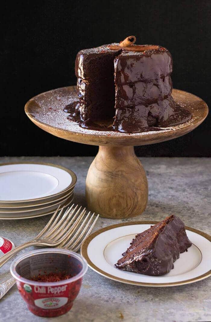 Gluten-Free Chocolate Cake With Cinnamon And Chili