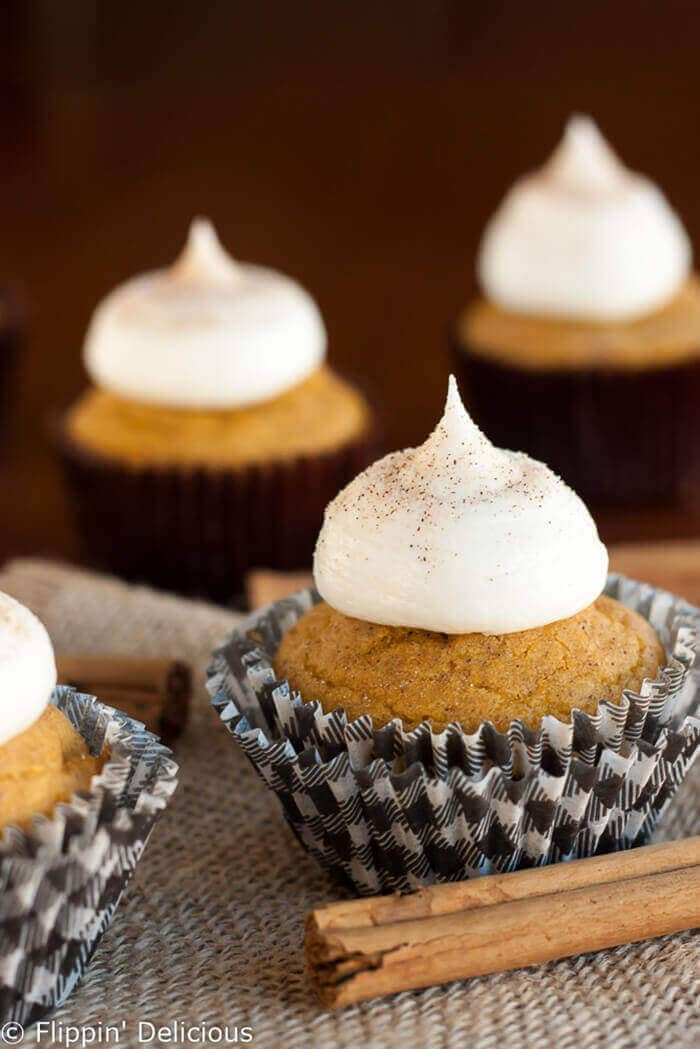 Gluten-free Pumpkin Cupcakes with Cream Cheese Frosting