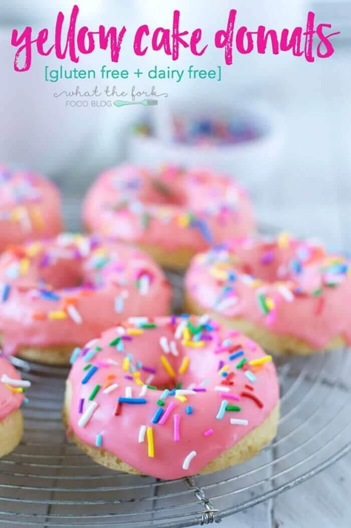 Gluten-free Yellow Cake Donuts