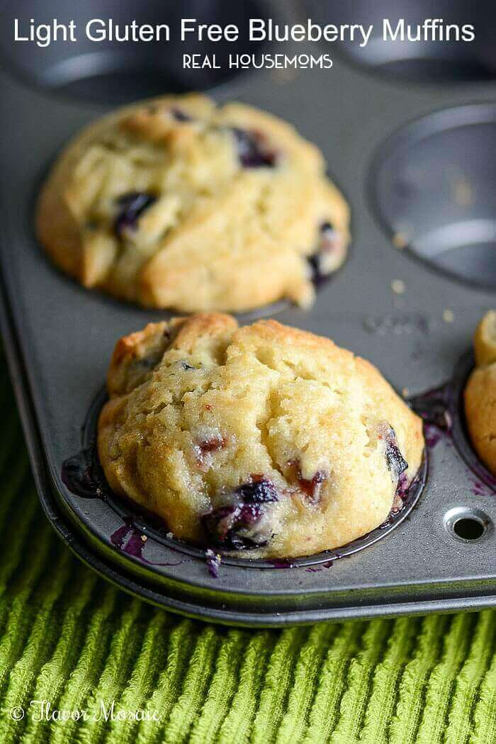 Light Gluten-free Blueberry Muffins
