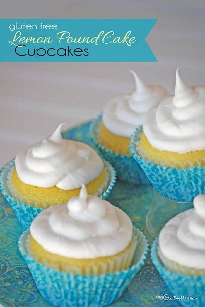 Gluten-Free Lemon Pound Cake Cupcakes