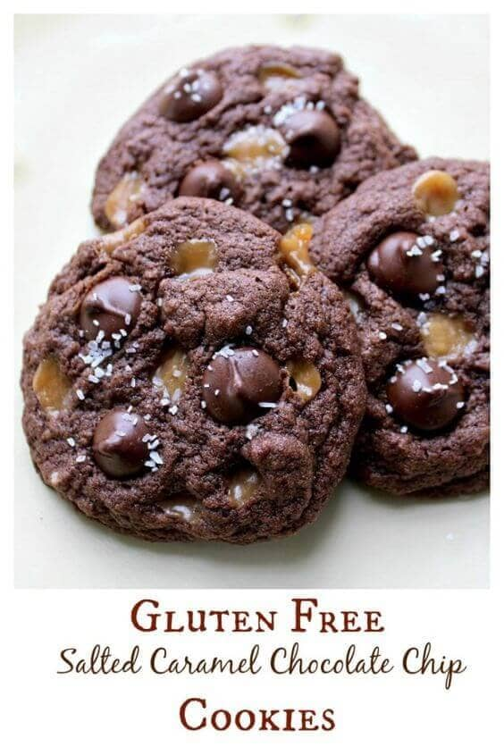Gluten-Free Salted Caramel Chocolate Chip Cookies