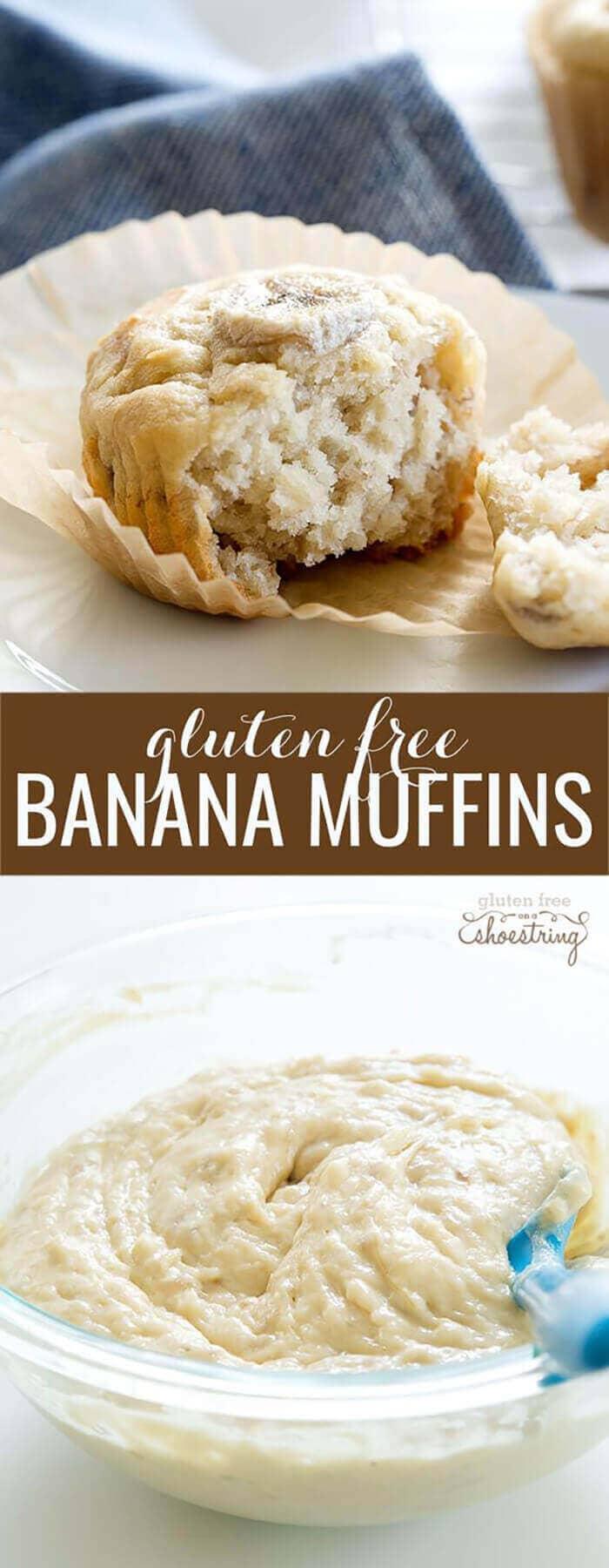 Classic Gluten-free Banana Muffins
