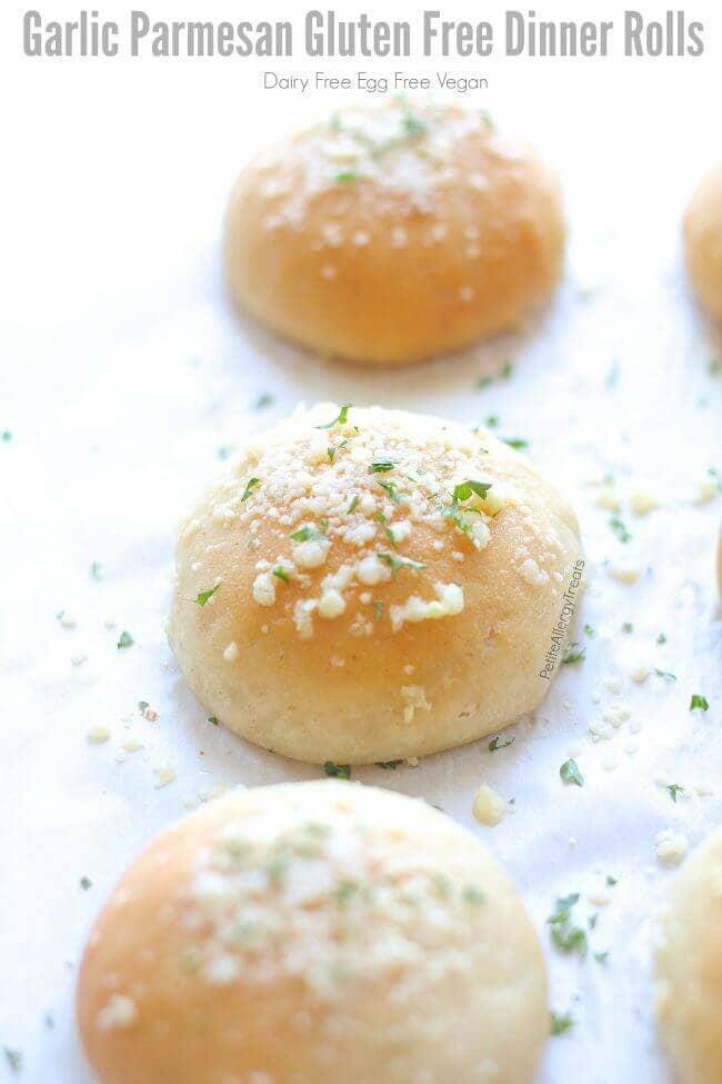 Dairy-Free Garlic Parmesan Dinner Rolls