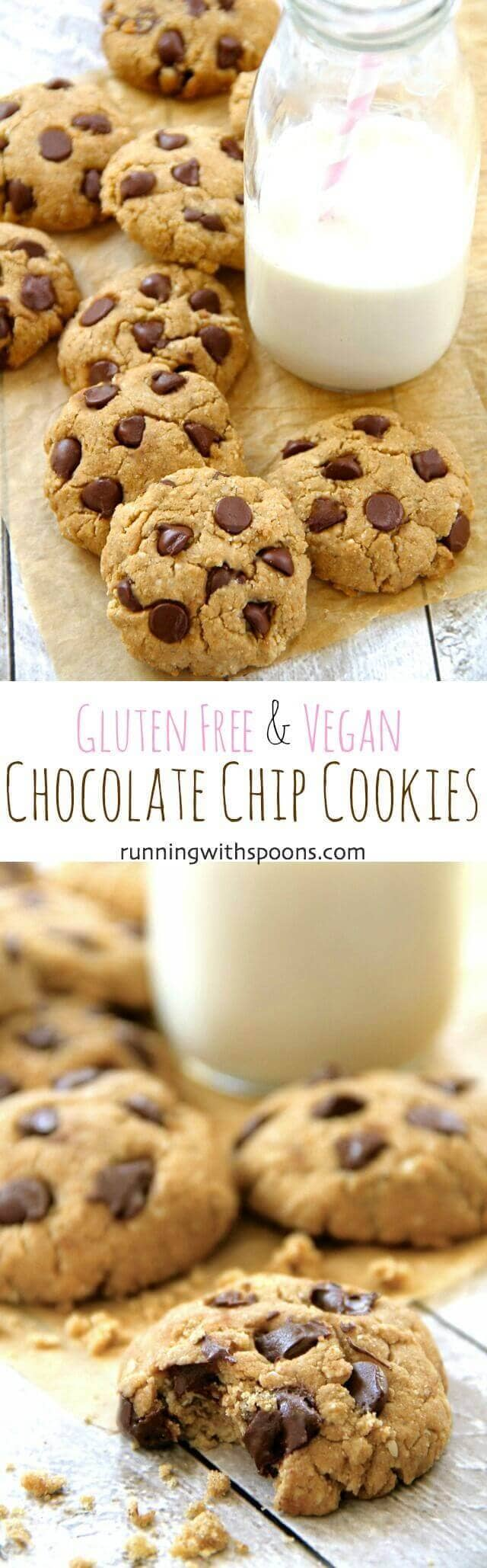 Gluten-Free Vegan Chocolate Chip Cookies