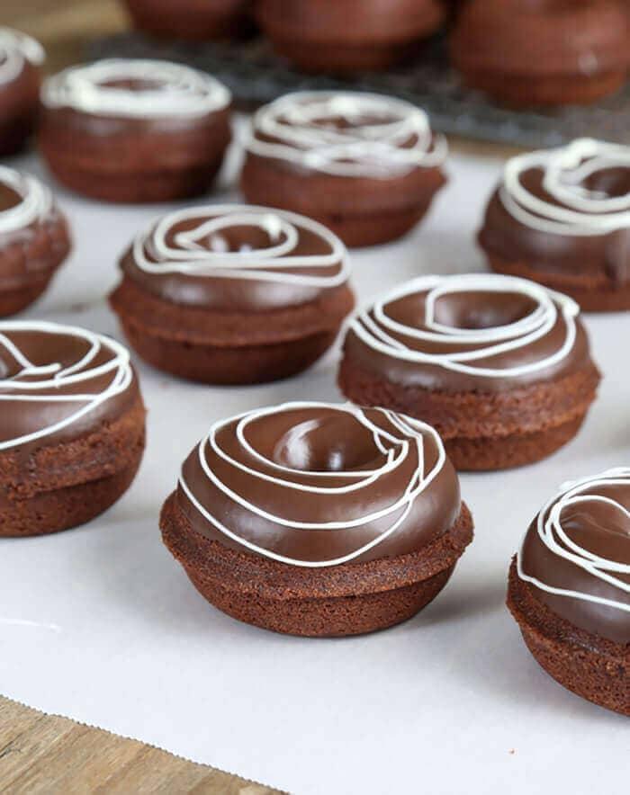 Chocolate Gluten-free Cake Mix Donuts