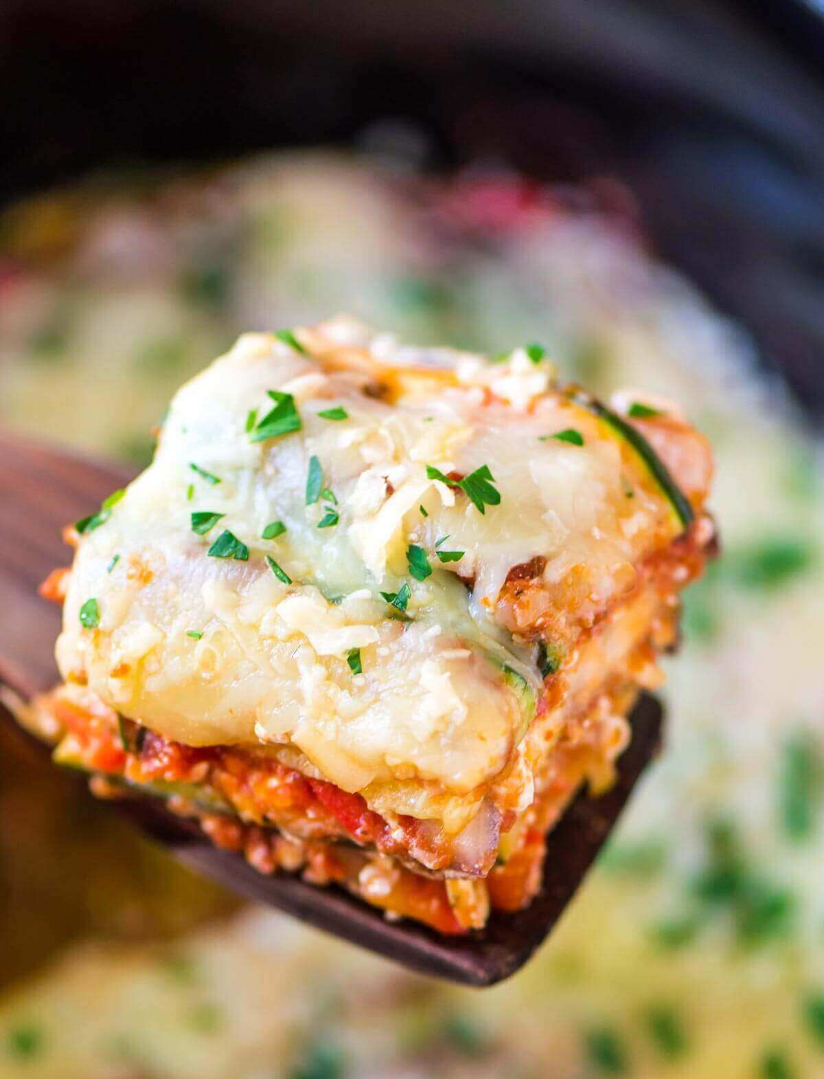 Crock Pot Low Carb Lasagna
