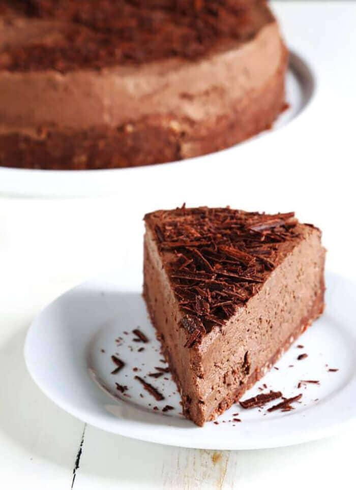 Gluten-Free No Bake Chocolate Cheesecake