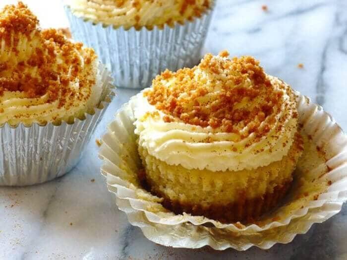 Gluten-free Eggnog Cheesecake Muffins