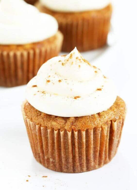 Grain-Free Carrot Cake Cupcake