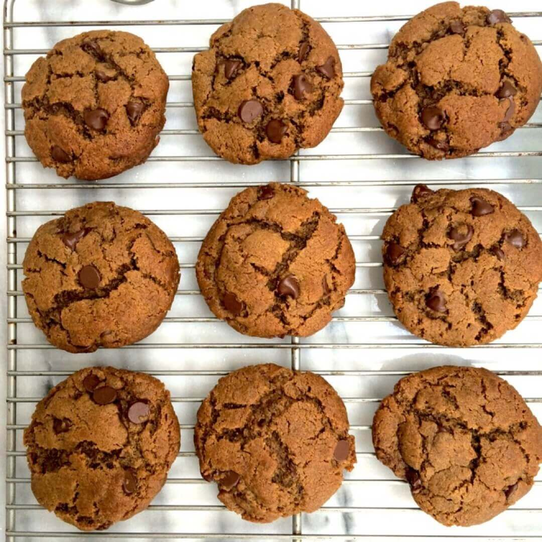 Gluten-Free Peanut Butter Dark Chocolate Chip Cookies