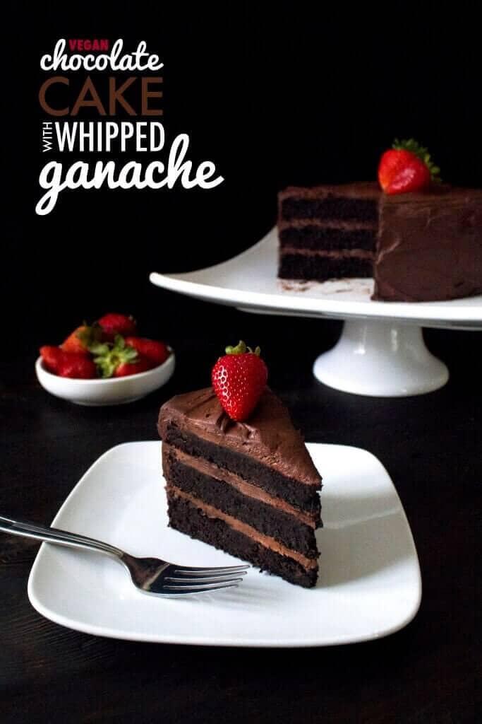 Vegan Chocolate Cake With Whipped Ganache