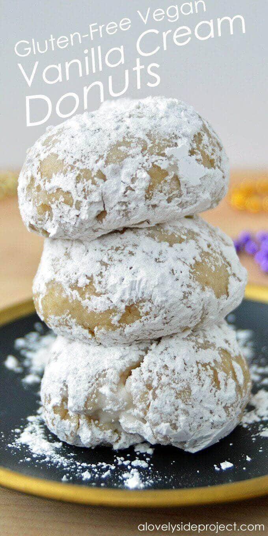 Gluten-Free Vegan Vanilla Cream Donuts