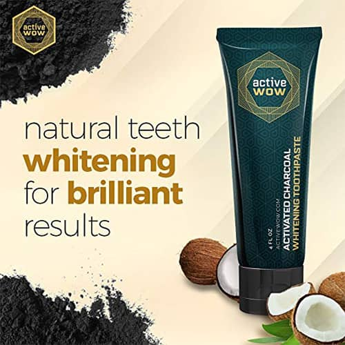 Active Wow Teeth Whitening Charcoal Toothpaste